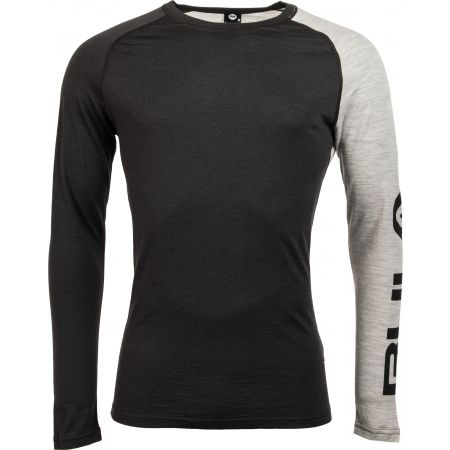 Bula ATTITUDE MERINO WOOL CREW - Pánské triko s dlouhým rukávem
