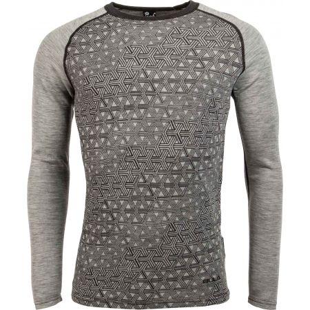 Bula GEO MERINO WOOL CREW - Pánské triko s dlouhým rukávem