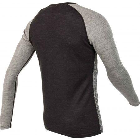 Pánské triko s dlouhým rukávem - Bula GEO MERINO WOOL CREW - 3
