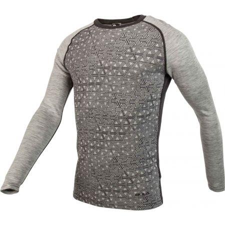 Pánské triko s dlouhým rukávem - Bula GEO MERINO WOOL CREW - 2