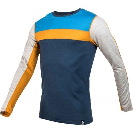 Pánské triko s dlouhým rukávem - Bula RETRO WOOL CREW - 2