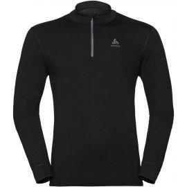 Odlo BL TOP TURTLE NECK L/S HALF ZIP NATURAL - Pánské tričko s dlouhým rukávem