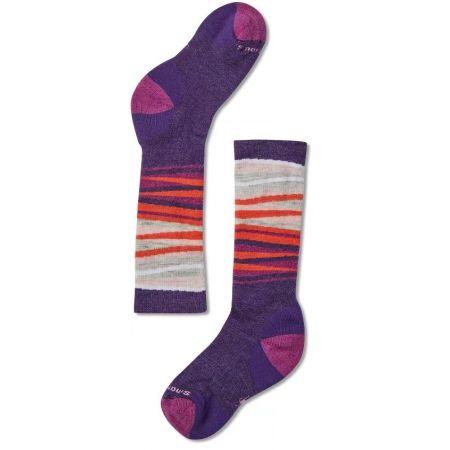 Dětské zimní ponožky - Smartwool WINTERSPORT STRIPE - 2