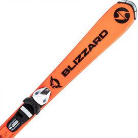 Blizzard FIREBIRD JUNIOR ORANGE + TYROLIA SLR 4.5 WHITE/BLACK - Dětské sjezdové lyže