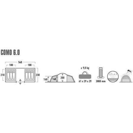Rodinný stan - High Peak COMO 6 - 7